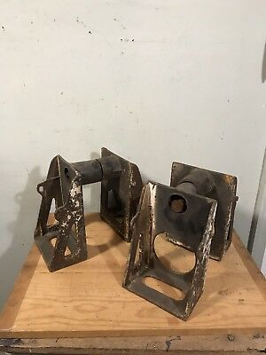 Antique Cast Iron Joist Hangers Architectural Salvage (4)