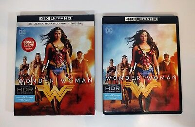 Wonder Woman - 4K UHD + Blu-ray (2-Disc) w/ Near Mint Slipcover - No digital