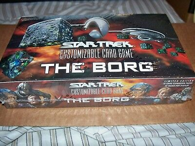 Star Trek The Borg Expansion Booster Box CCG 30-11 card packs Factory Sealed