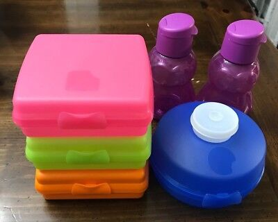 Tupperware Sandwich Keepers Bagel Keeper Penguin Eco Water 3752D 4440A 9117B
