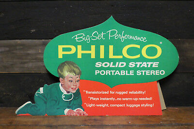 Vintage Philco Store Display Advertising Solid State Stereo 1950's Christmas