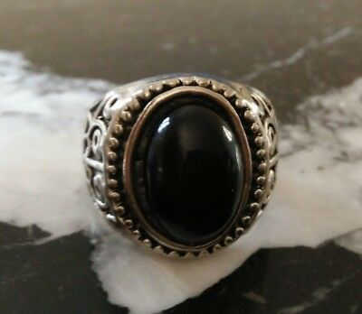 ancient viking ring silver color stunning rare type