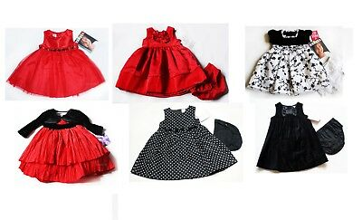 NWT Girls Dress NEW Christmas Holiday Birthday Party Wedding 3m 6m 9m 24m red