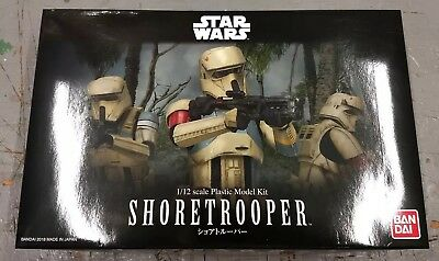 Bandai 2018 Star Wars Rogue One 1/12 Shoretrooper model  NEW / US Seller