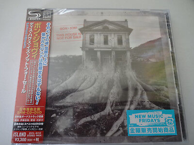 BON JOVI SHM CD+DVD 'THIS HOUSE IS NOT FOR SALE' Japan Edition Unopened