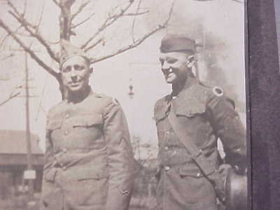 ORIGINAL WWI Photo Two Soldiers w/37th Division Shoulder Patches