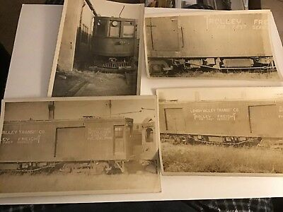 LEHIGH VALLEY TRANSIT (LVT) TROLLEY FREIGHT Car 1920s Photo Lot Free Shipping