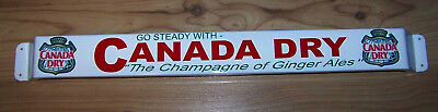 Rare Canada Dry Advertising Retro Door Push Bar