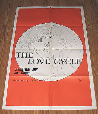 LOVE CYCLE Christine Joy 1977 ADULT RATED X Original  MOVIE POSTER