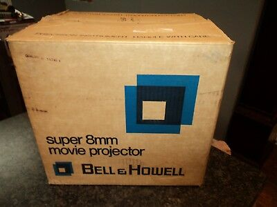 Near Mint in Box Bell & Howell 466 Z 466Z Super 8 / Standard 8mm Movie Projector