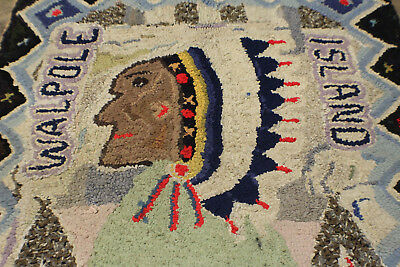 Vintage Walpole Island Ont. Canada Indian Rug / Wall Hanging ~ One of a Kind!
