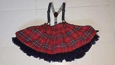 baby girl 18-24 months, age 2 year old, tartan, check skirt Next Christmas,