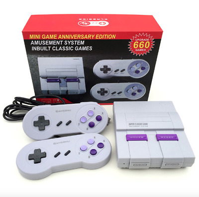 Super NES Mini Retro Video Game Console Entertainment System Built-in 660 Games