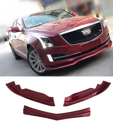 RED Front Bumper Molding Cover Trim ABS 3PCSFor Cadillac ATS 2015-2018