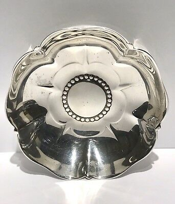 Vtg Tudor Rose Tiffany & Co Sterling Silver Nut Dish Candy Trinket Bowl 22955