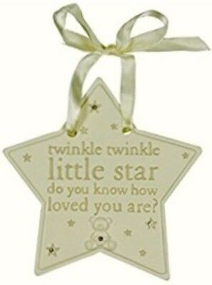 Hanging Star Plaque 'twinkle twinkle little star..loved you are' Nursery Decor