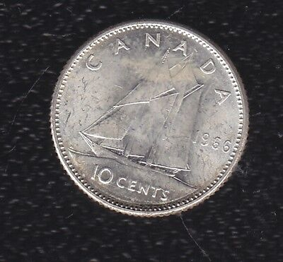 Canada 10 Cents 1966 Silver