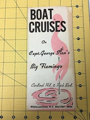 Travel Brochure Boat Cruises Capt George Sinns Big Flamingo Wildwood Crest N.J.