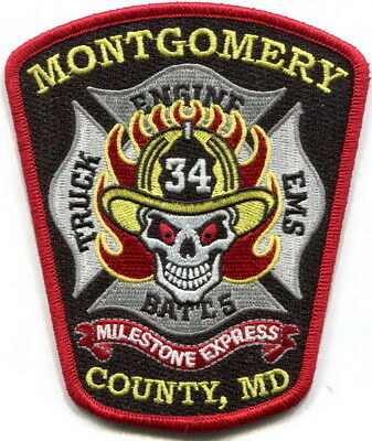 Maryland - Montgomery County Fire Milestone station 34 new current style patch