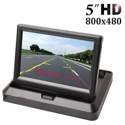 5 Inch Foldable Car Dashboard LED Monitor Screen for Rear View Parking Home CCTV