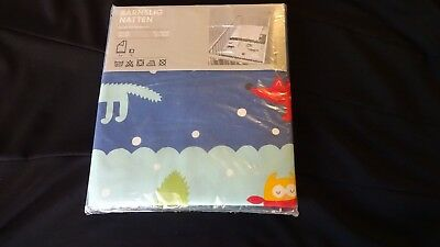 Baby Crib DUVET & PILLOWCASE IKEA Quilt Cover Animals Print      NEW   c   B