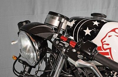 Support Counter Black Coffee Racer Harley Sportster