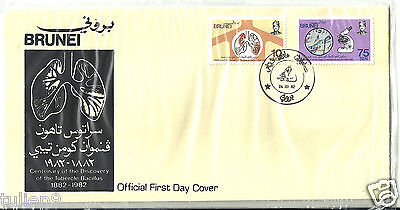 FDC - Brunei (1982) - Centenary of the Discovery of the Tubercle Bacillus FDC