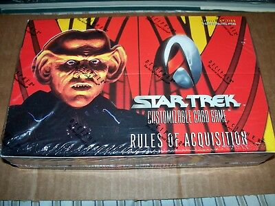 Star Trek CCG Rules of Acquisition Booster Box 30 - 9 card packs Factory Sealed