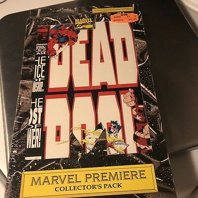 VTG 90s Marvel Comics DEADPOOL Circle Chase 1-4 Premiere Collector's Pack SEALED