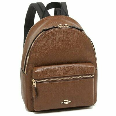 select for authentic new season closer at NWT COACH F38263 F28995 Mini Charlie Backpack In Pebble Leather Saddle $295