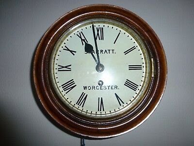 Skarratts GWR 8 inch Fusee very old Railway clock with  cast  brass bezel c1860