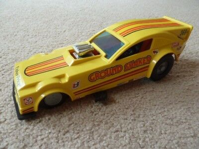 Vintage Fisher Price toy 'Ground shaker' drag racing car 1980s