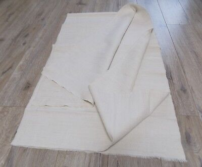 Homespum Flax Linen Fabric 3,6x0,57m 1930s White-Light beige Great condition