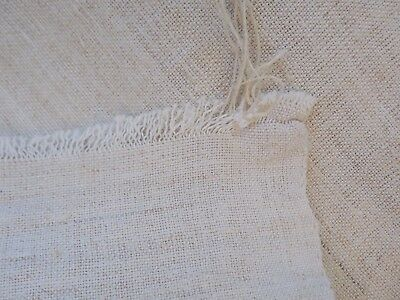 Antique Flax Thin Fabric Canvas 1930s 3,9x0,61m Cream Ukraine Great condition