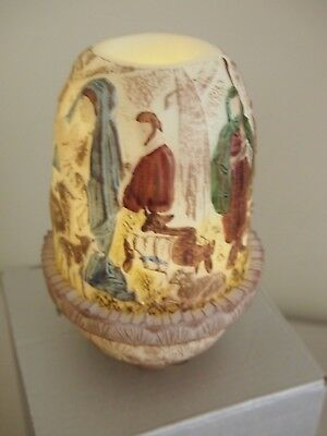 Fenton Fairy Lamp, Hand Painted Nativity Scene, Make This A Fenton Christmas
