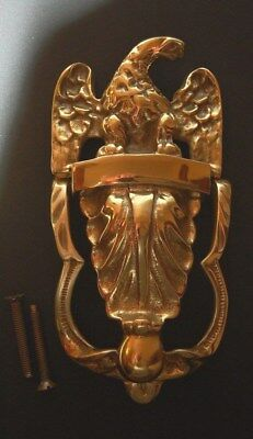 Vintage Solid Brass American Eagle Door Knocker With Screws