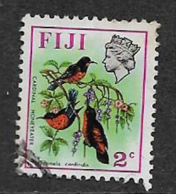 Fiji Postage Issue -  Used Qe11 Definitive Stamp 1971 - Birds & Flowers