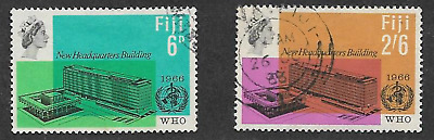 Fiji Postage Issue -  Used Qe11 Commemorative Stamp Set 1966 - W.h.o. Issue