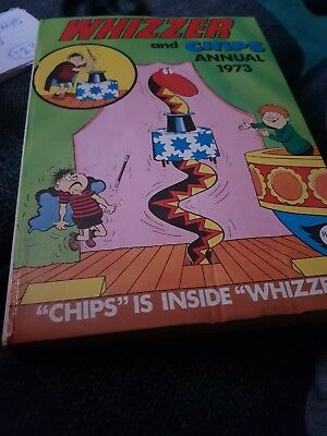 The Whizzer And Chips Annual 1973 X VERY GOOD CONDITION FOR AGE  X RARE X1234 X