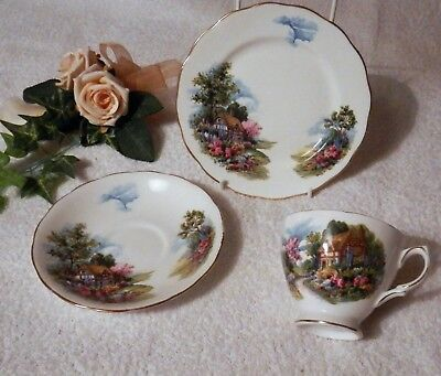 ROYAL VALE Bone China Pattern No. 7382 Trio – Plate Cup and Saucer