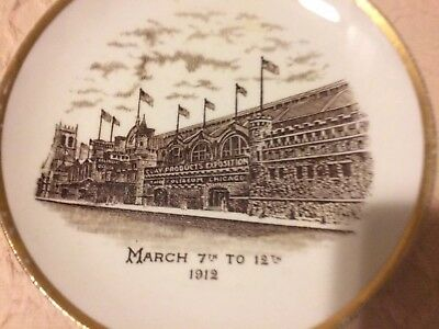 1912 Clay Products Exposition Plate The Coliseum Chicago Dresden