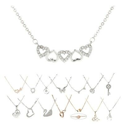 Women's Jewelry Designer Ladies Stylish Sparkling Plated Crystal Circle Necklace