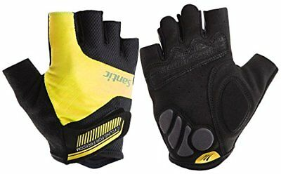 Cycling Gloves with Shock-Absorbing Foam Pad Breathable Half (Small|Yellow)