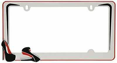 Cruiser Accessories 22001 Stiletto License Plate Frame, White/Black