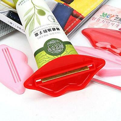2Pcs Lips Toothpaste Tube Squeezer Squeeze Paste Dispenser Roll Holder one