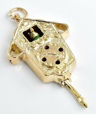 Unique and Unusual Heavy Vintage 9ct Gold Charm - Cuckoo Clock 5.96g (HM) 9k 375