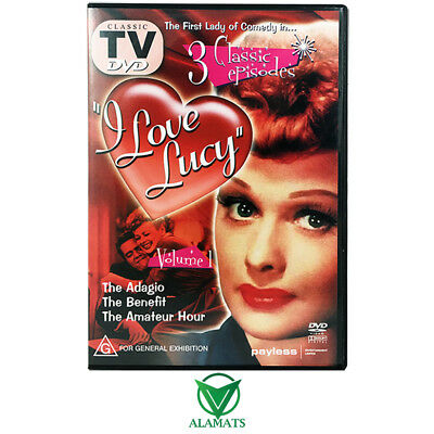 I Love Lucy Volume 1 (DVD) 3 Classic Episodes - Comedy - Lucille Ball
