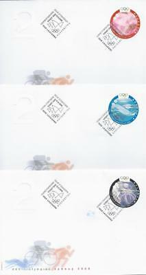 Switzerland – Sydney Olympic Games 2000 – 5x FDC (2 scans)