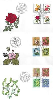 Switzerland – Pro Juventute 1972-77 (Roses, Flowers) – 6x FDC (2 scans)