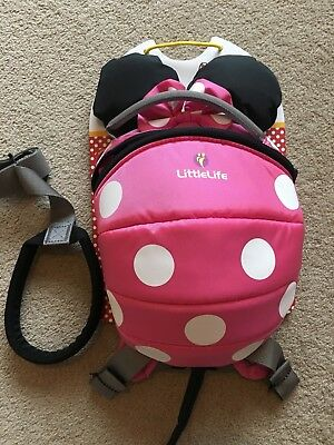 Brand New: Pink Minnie Mouse Daysack & Rein From LittleLife